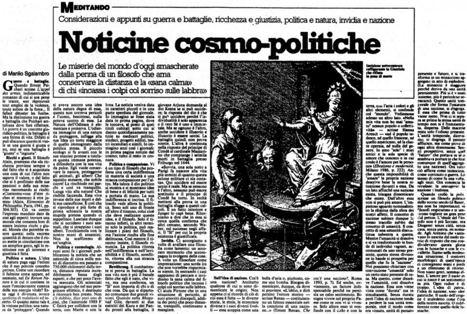 Noticine cosmo-politiche