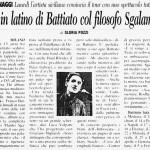 Rap in latino di Battiato col filosofo Sgalambro