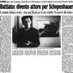 Battiato: divento attore per Schopenhauer