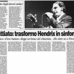 Battiato: trasformo Hendrix in sinfonia