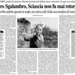 Caro Sgalambro, Sciascia non fu mai retorico