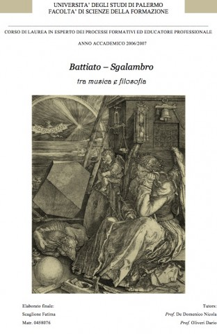 Battiato - Sgalambro tra musica e filosofia