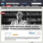 È morto Manlio Sgalambro, filosofo, scrittore e poeta. Per anni è stato il coautore di Battiato